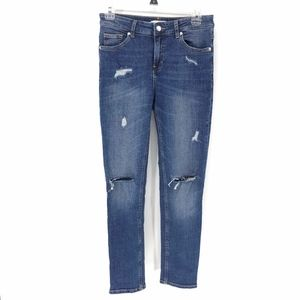 H&M Conscious Distressed Blue Girlfriend Jeans